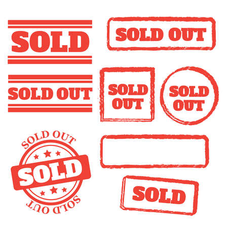 Sold rubber stamp. Sold out stamps grunge. Sold out badge Vector Illustratie