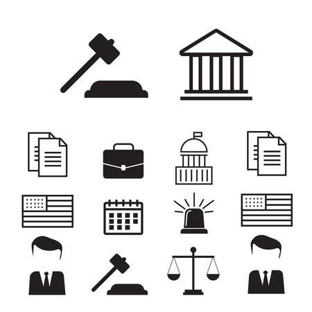 Lawyer, advocate man or jurist concept. Lawyer flat vector illustration Vektorové ilustrace