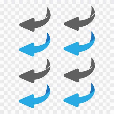 Flip over or turn vector
