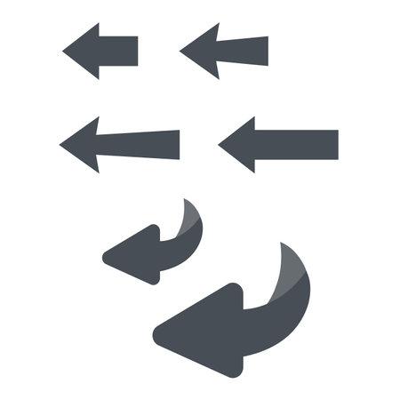 Flip over or turn Vecteurs