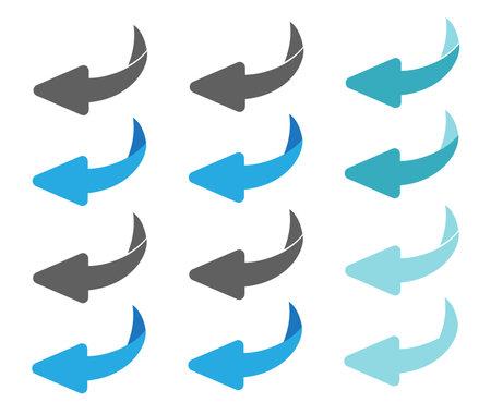 Flip over or turn design vector illustration