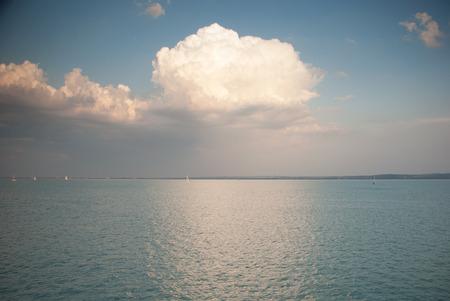 balaton: Evening  Lake Balaton Hungary Stock Photo