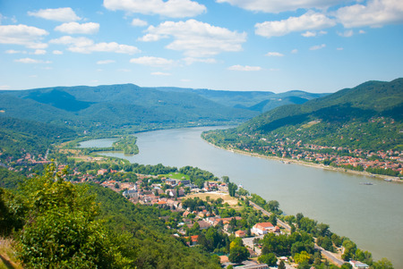 The view of Danube Bend Hungary