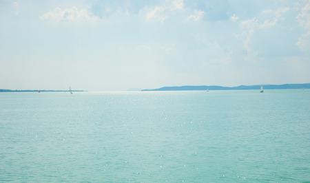 balaton: Sunny day on Lake Balaton Hungary
