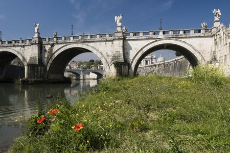 angelo: St. Angelo Bridge Rome Italy Stock Photo