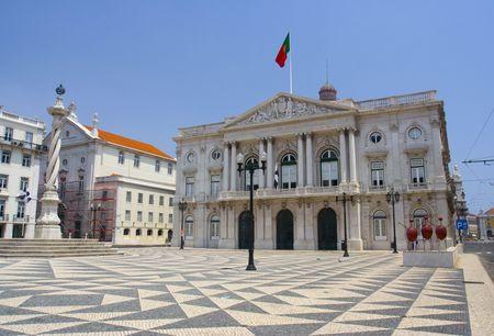 Praca do municipio, Lisbon, capital of Portugal. photo