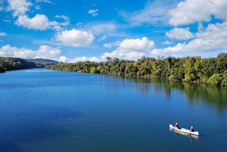 austin: kayaking in town lake in austin texas usa