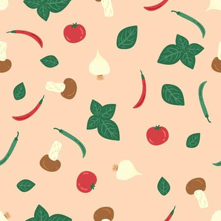 seamless pattern with hand drawn vegetable. creative designs for fabric, wrapping, wallpaper, textile, apparel.