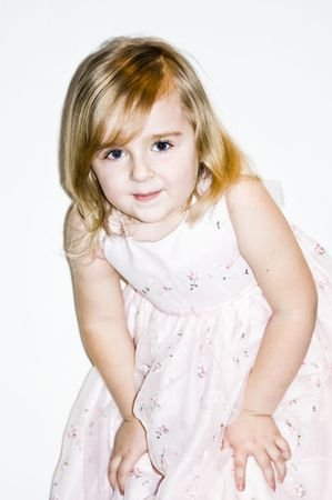 4 years old girl posing Stock Photo - 4489117