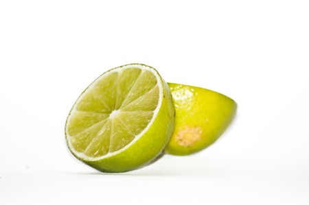 Yellow limes halves Stock Photo