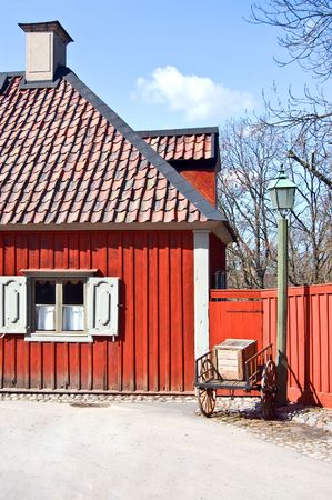 A scene of old swedish traditional house Stock Photo - 4651769
