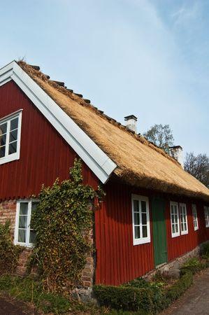 Scene from old swedish life