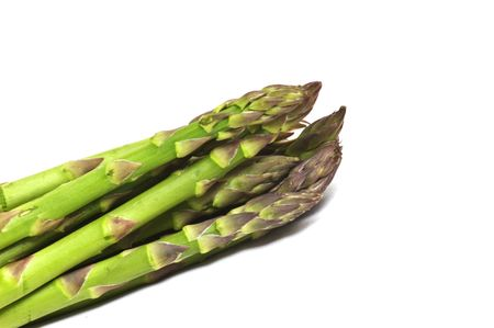 Fresh uncooked asparagus Stock Photo
