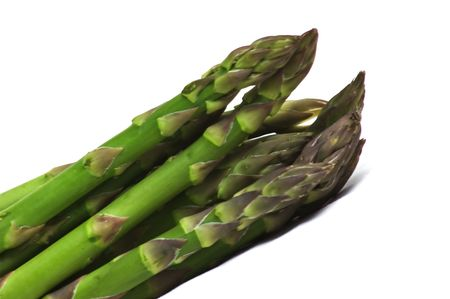 Fresh uncooked asparagus photo
