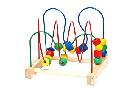 mental object: Ni�o juguete de madera aisladas en blanco
