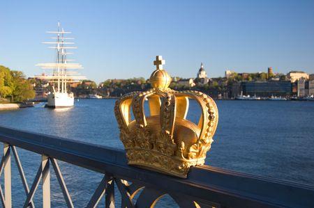 Royalty golden crown in Stockholm