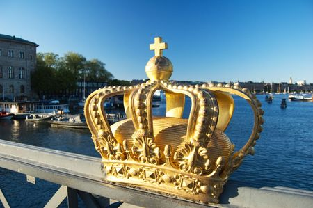 Royalty golden crown in Stockholm