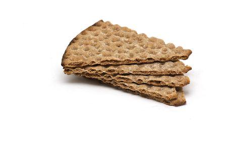 Swedish crispbread isolated on white Stock Photo - 4885033