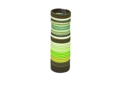 pallette: Palette de vert bandes �lastiques pour les cheveux