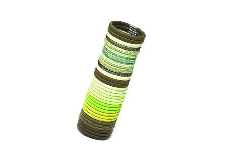 pallette: Green palette des �lastiques pour les cheveux