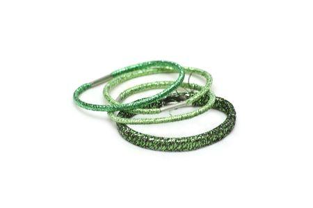 Green elastic bands for hair