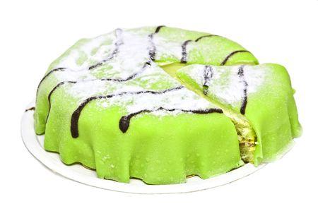 Traditional swedish marzipan princess cake Stock Photo