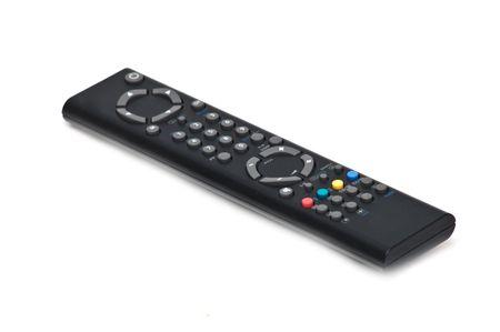Black tv remote control