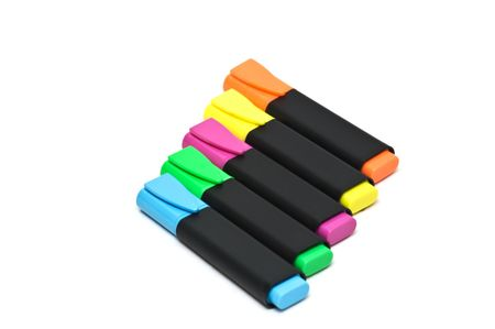 felt: Colorful highlighters Stock Photo