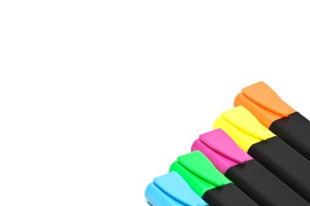 Colorful highlighters photo