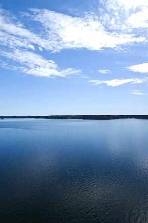Swedish archipelago in summer day