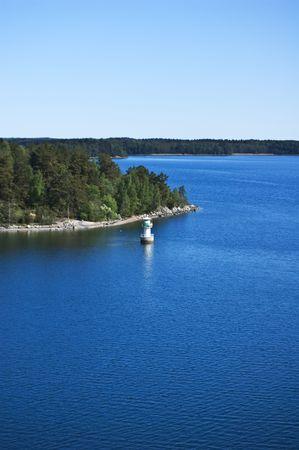 Swedish archipelago in sunny day Stock Photo