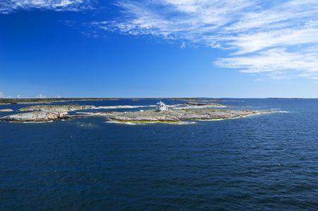 Swedish archipelago in sunny day photo