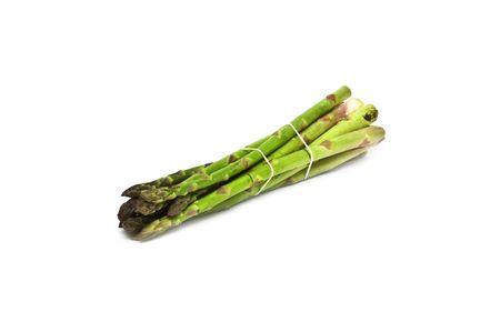 Fresh ecological asparagus photo