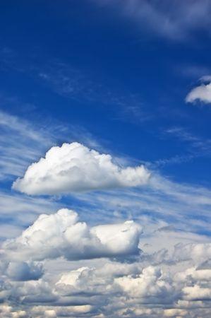 Cloudy summer sky Stock Photo