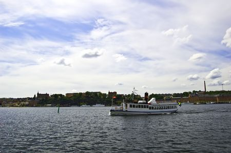 Old-days ship in Stockholm photo