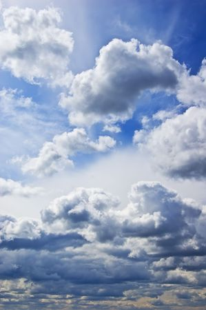 Cloudy summer sky Stock Photo