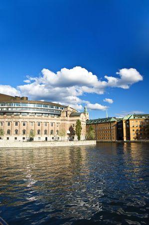 Swedish parliament building photo
