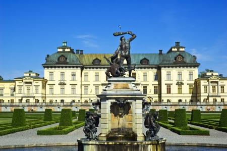 Drottningholm Royal palace in Stockholm Stock Photo