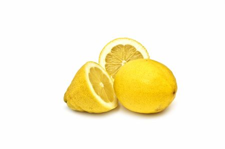 Lemons on white photo
