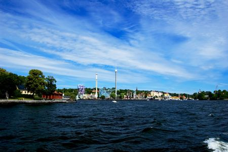 Amusement park in Stockholm on sunny summer day photo