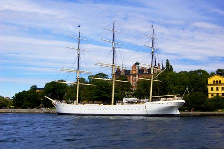 Old yacht in Stockholm