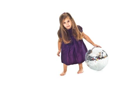 Little girl with disco ball