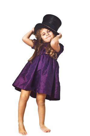 Funny little girl portrait photo