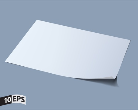 one sheet: Blank sheet of paper  Paper page with curl