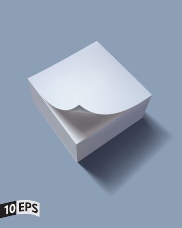Close up of stack of papers with curl  illustration Vector