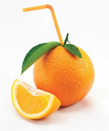tubules: Orange with leaves and tubules on white background