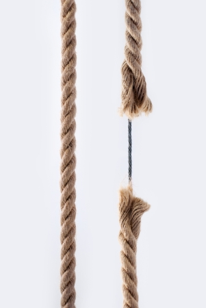 Rope with metal cable photo