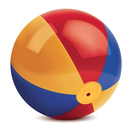 inflatable ball: Beach ball. illustration