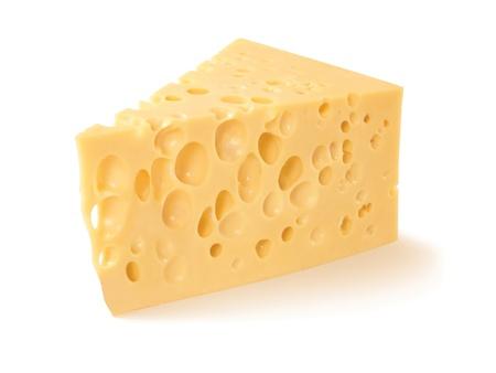 queso rayado: Pedazo de queso aislado en blanco