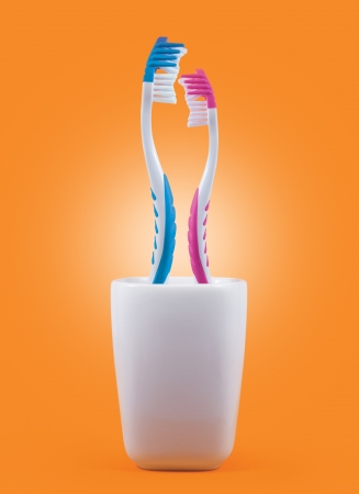 Toothbrushes  Love concept